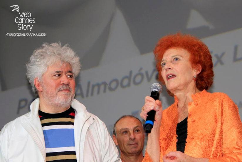 Pedro Almodovar et Marisa Paredes  - Clôture du Festival Lumière - Lyon - Octobre 2014 - Photo © Anik COUBLE