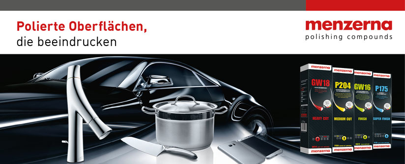 Menzerna Poliertechnik für Aluminium, Edelstahl, Lack & Messing