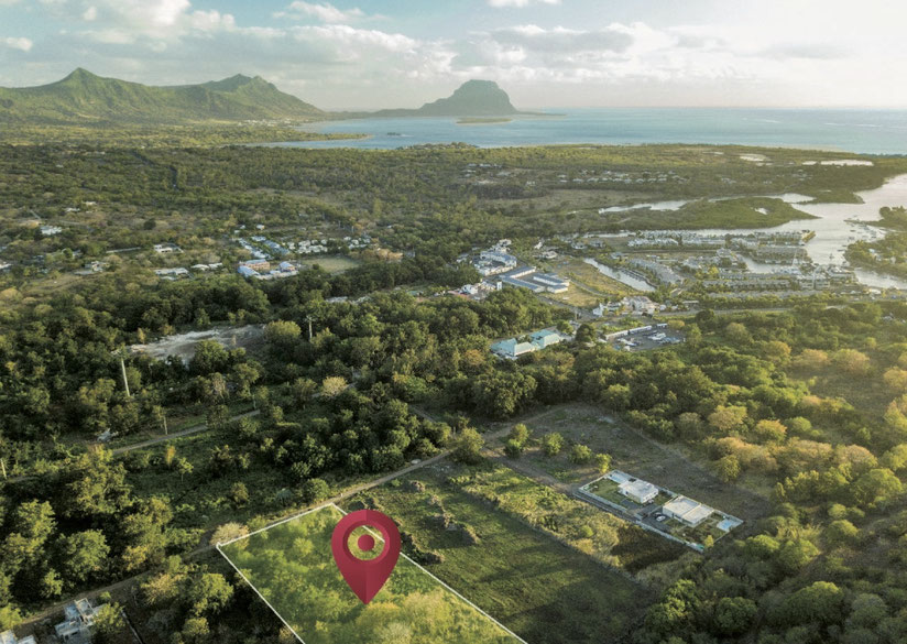 SiTUATION LE RAVINALE VILLAS AGENCE IMMOBILIERE JINVESTY  ILE MAURICE