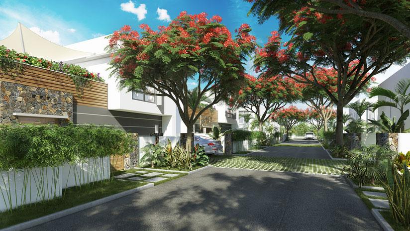 nouveau programme immobilier PDS villas et maisons PDS AMALA au sud ouest proche MARINA investir ile maurice