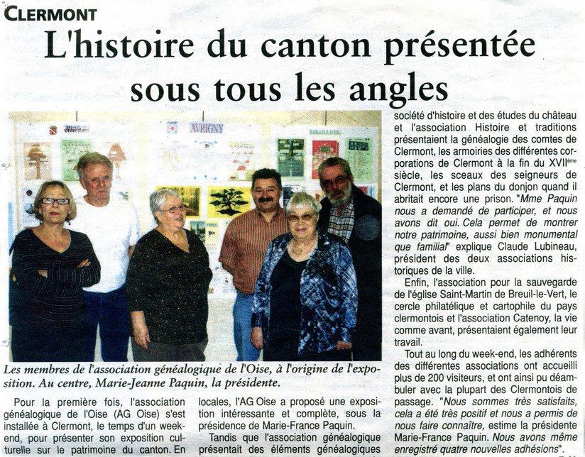 16 février 2011 - L'histoire du canton présentée sous tous les angles avec la participation de l'association pour la sauvegarde de l'église Saint Martin de Breuil le Vert (SMBLV)