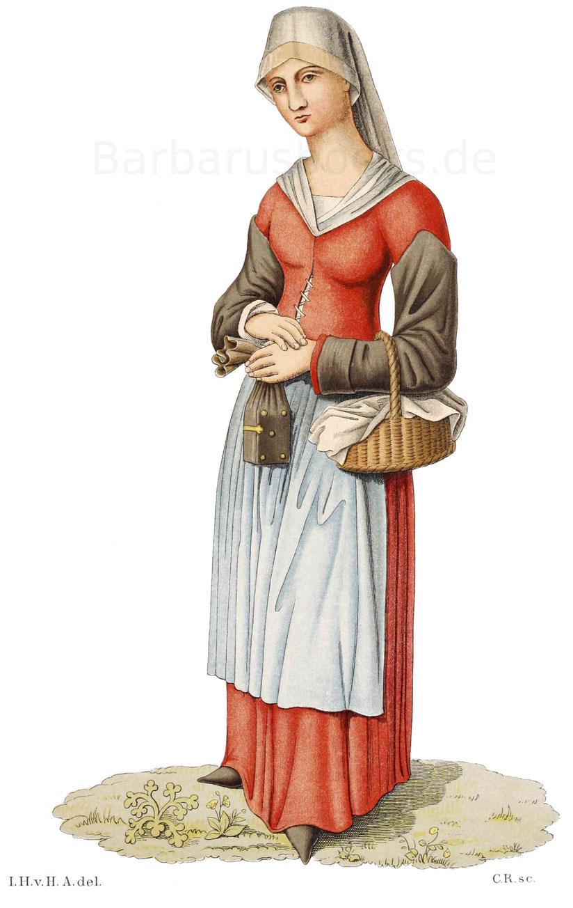 Bauersfrau des 15. Jahrhunderts.