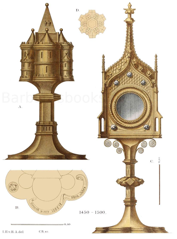 Zwei kirchliche Geräte aus der zweiten Hälfte des 15. Jahrhunderts.