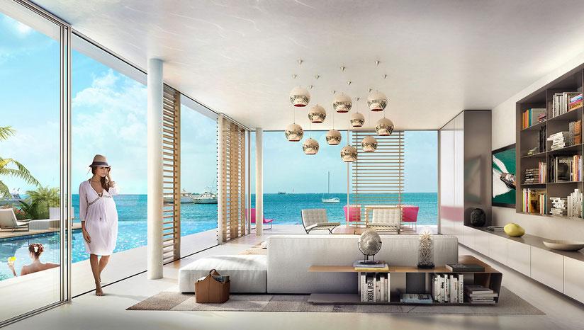 un séjour Vue mer à DUBAI en villa individuelle à The World avec piscine individuelle