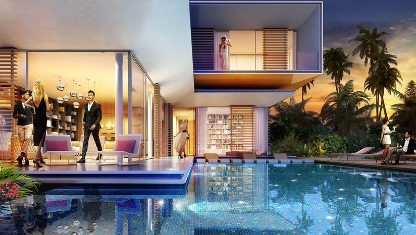 investissement immobilier à DUBAI au coeur de THE WORLD : votre villa de prestige dans Le coeur de l'Europe