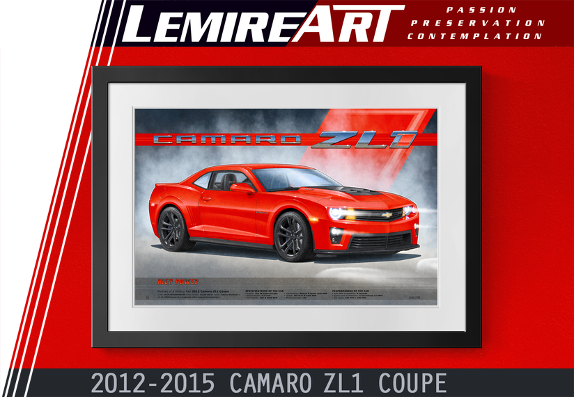 Camaro ZL1 art print 5th generation