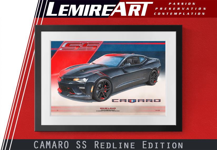 Camaro SS Redline Edition drawn portrait