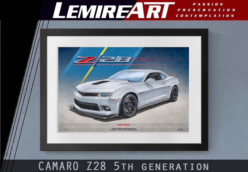 Camaro Z28 art print 5th generation