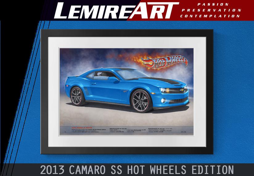 Drawn portrait of a Corvette Grand Sport C7 coupe in admiral blue