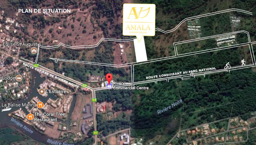 SiTUATION VILLAS AMALA VILLAS AGENCE IMMOBILIERE JINVESTY  ILE MAURICE