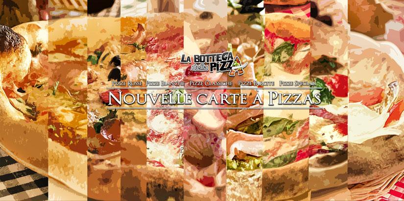 carte à pizza la bottega della pizza casteau