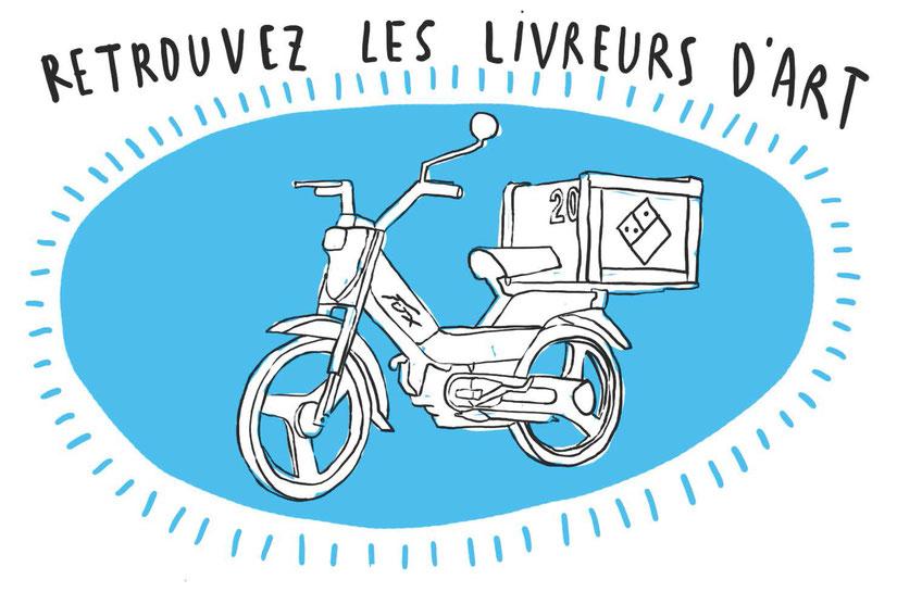Visuel du projet de médiation « Livreurs d'art », Frac Bretagne, 2021