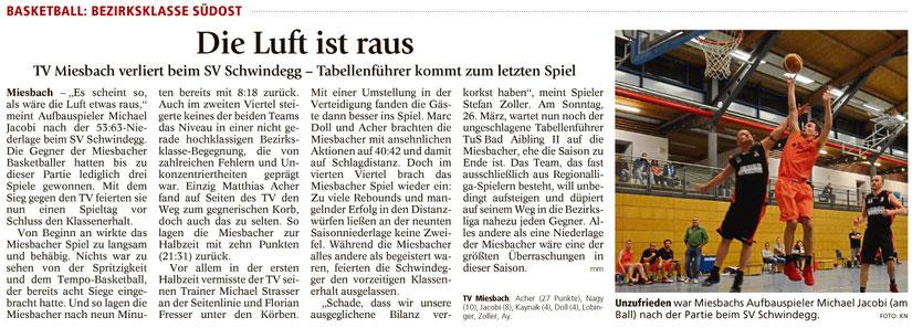 Bericht im Miesbacher Merkur am 21.3.2017 - Zum Vergrößern klicken