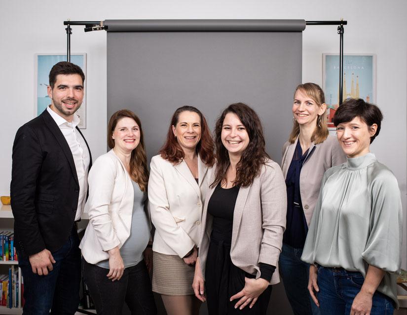von links nach rechts: Mareike Sturzebecher, Anna Thiel, Lydia Jähtzen, Maxi Krüger, Mareike Niemann, Christina Hollnagel und Christopher Schreiber