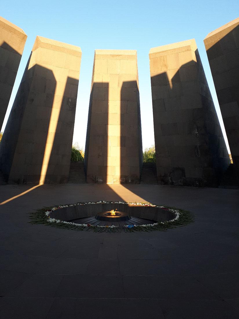 Le mémorial aux victimes du génocide arménien pris en photo lors de notre voyage en 2019