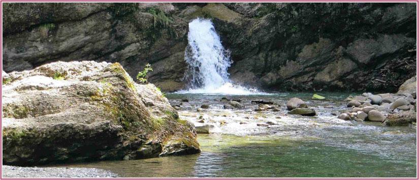 Blaichach, Gunzesried Säge, Ostertaltobel, Allgäu Wasserfall