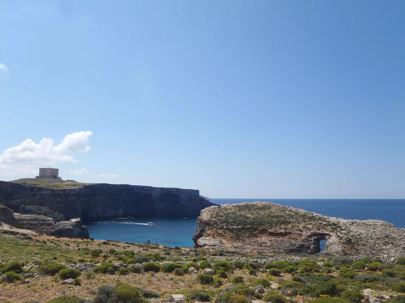 cliffs and sea,Comino, Malta