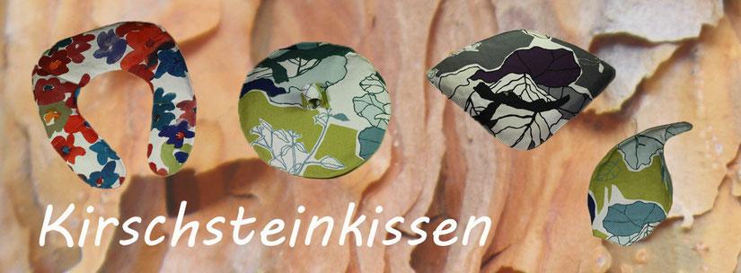 Natursteinkissen | Kirsch Stein Kissen | Kirschsteinkissen | Schmerzlinderung | einzigartige Formen und Farben | www.blaser-design-bern.ch