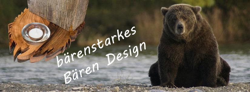 Grizzlibär | Braunbär BernerBär Holz Design aus Nussbaumholz