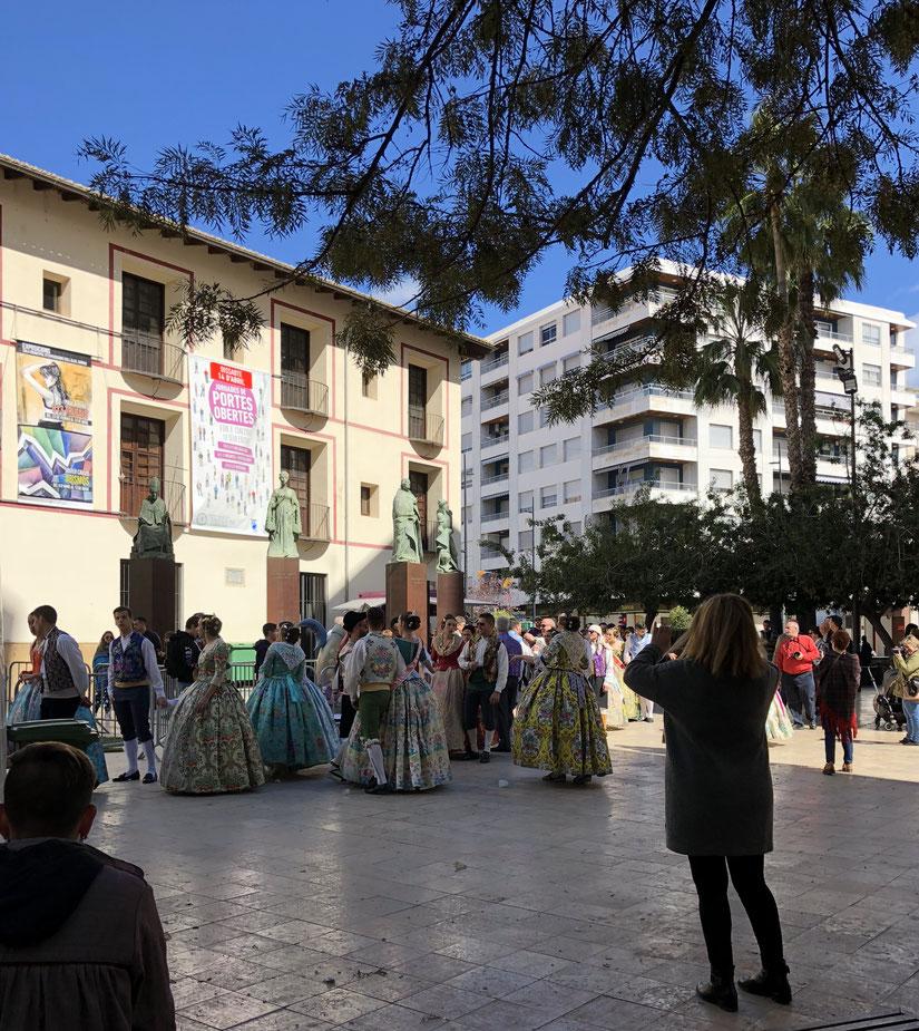 Fallas , Gandia, Universitätsplatz, März 2018
