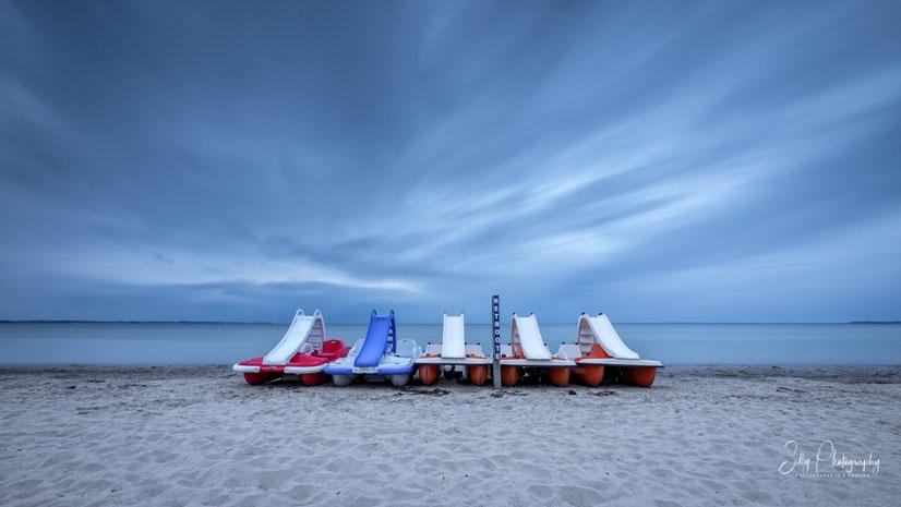 Scharbeutz , Ostsee, Tretboote, Langzeitbelichtung, 2020, © Silly Photography