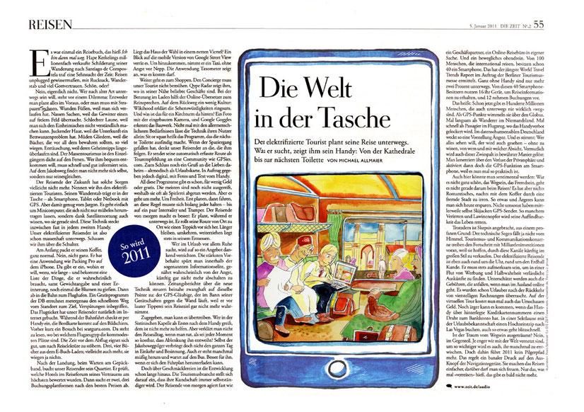 """Illustrationen für die Wochenzeitung """"Die Zeit"""" von Niels-Schroeder. © Die Zeit"""