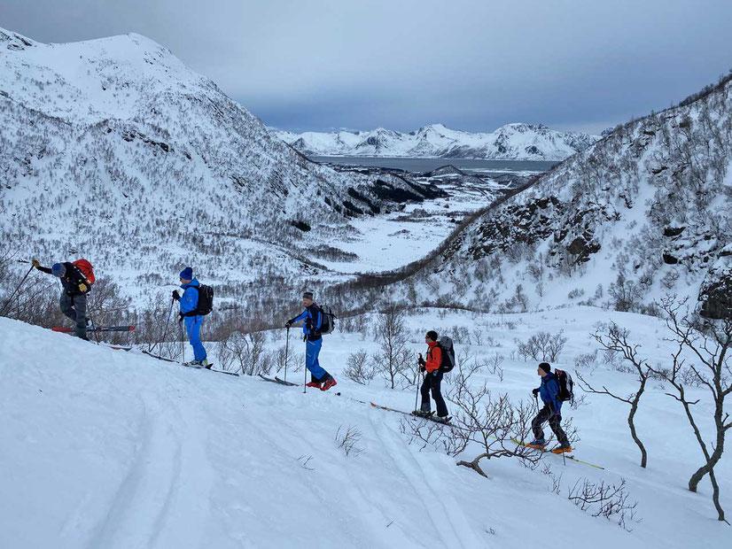 Norwegen Lofoten Skitour auf den Varden