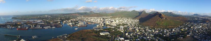 VUE DRONE PHOTO PORT LOUIS ILE MAURICE