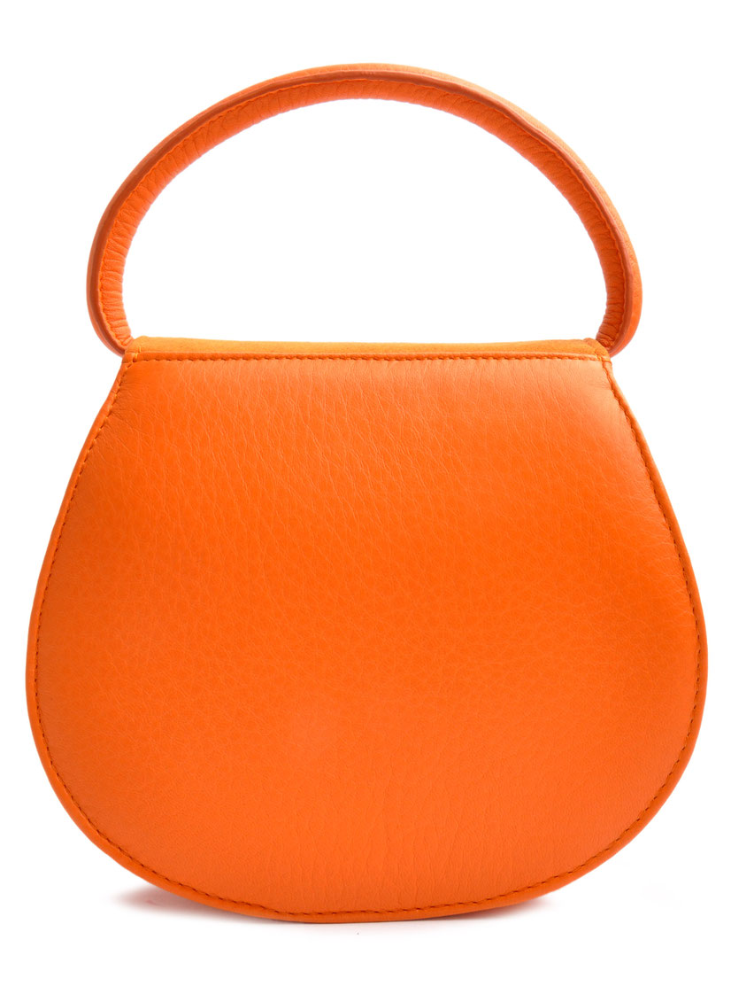 HENRIETTE Dirndltasche orange Handarbeit Ledermanufaktur OSTWALD Traditional Craft