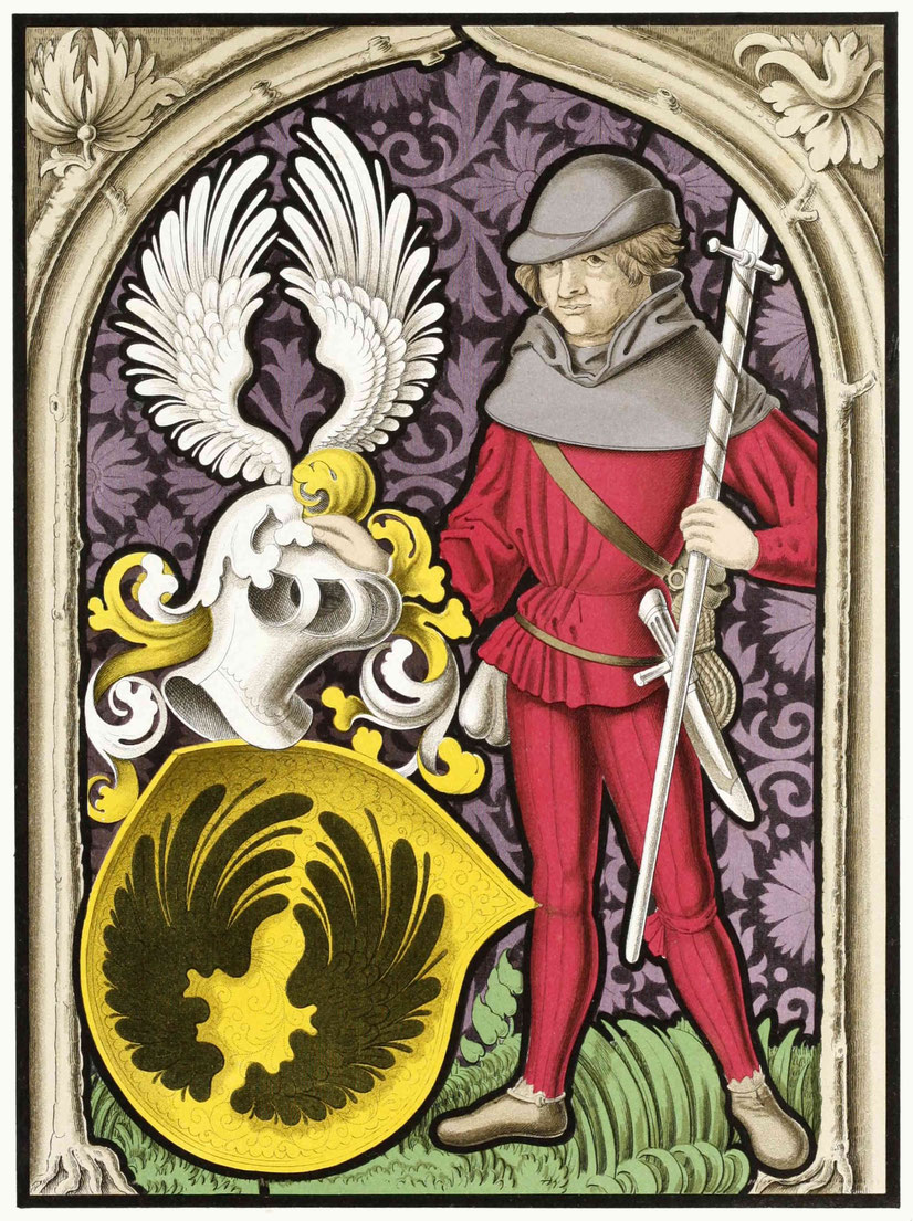 Glasgemälde vom Übergang des 15. in das 16. Jahrhundert