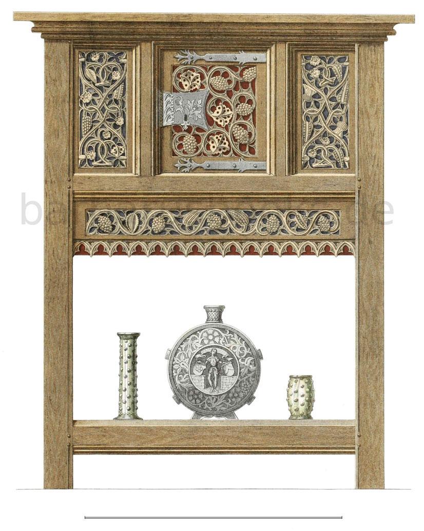Schrein aus Eichenholz vom Anfang des 16. Jahrhunderts