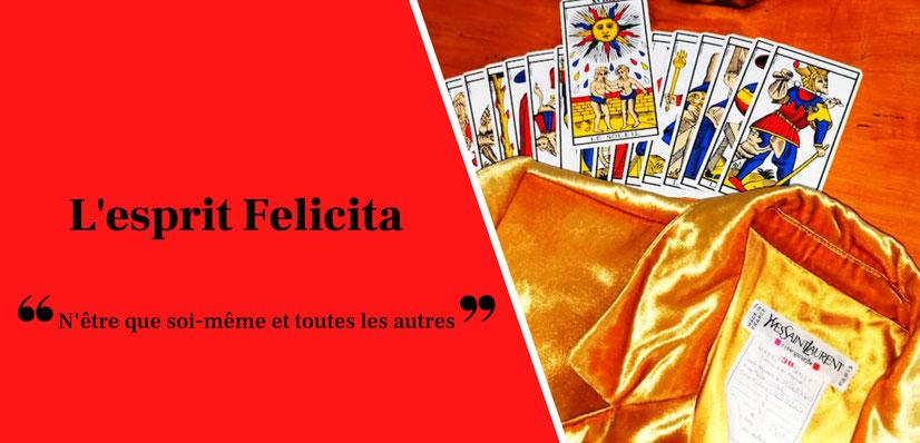 Felicita Vintage - Veste Yves Saint-Laurent vintage Rive Gauche et tarot de marseille