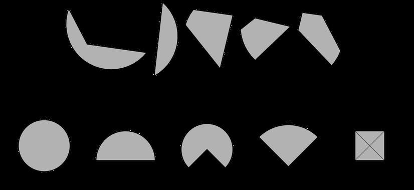 zerschnittene Figuren zusammensetzen
