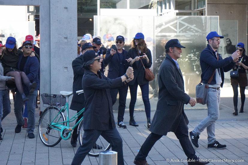 """Vincent Lindon, dirigé par Park Chan-Wook, lors du remake de """" Sortie d' Usine """" - Festival Lumière - Lyon - Octobre 2016 - Photo © Anik Couble"""