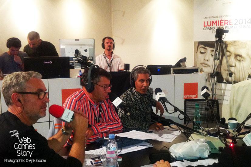 Rachid Bouchareb, invité de Radio Lumière - Festival Lumière - Lyon - Octobre 2014 - Photo © Anik COUBLE