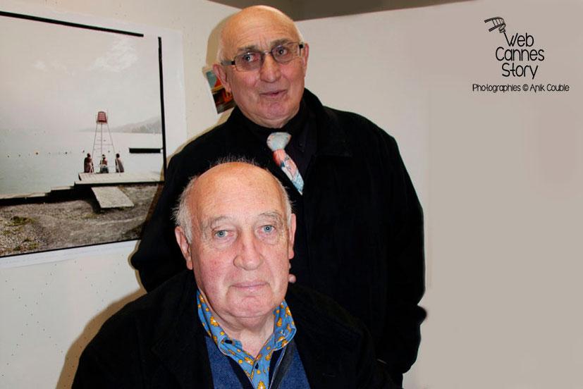 Raymond Depardon et son frère Jean - Hôtel de Région - Lyon - 2012 -  Photo © Anik COUBLE