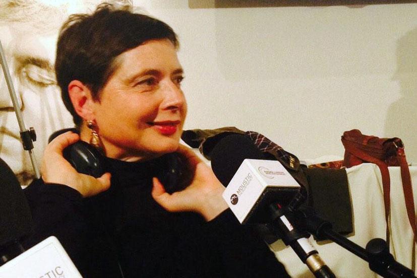 Isabella Rossellini, invitée de Radio Lumière - Festival Lumière - Lyon - Octobre 2014 - Photo postée sur Twitter par Radio Lumière