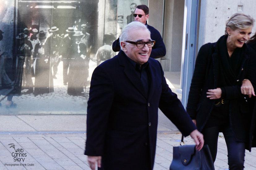 """Martin Scorsese, lors du remake de """" Sortie d' Usine """" - Festival Lumière - Lyon - Octobre 2015 - Photo © Anik COUBLE"""