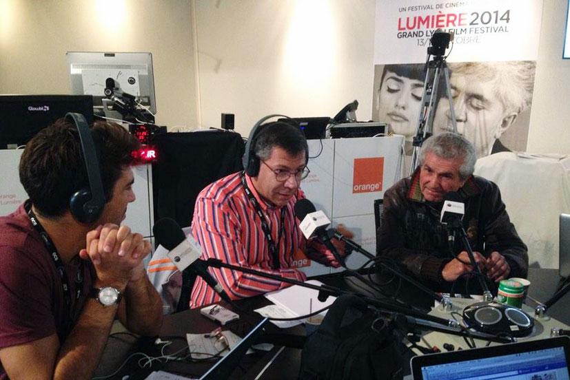 Claude Lelouch, invité de Radio Lumière - Festival Lumière - Lyon - Octobre 2014 - Photo postée sur Twitter par Radio Lumière