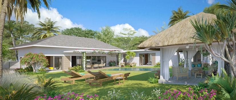 New villas in mauritius Island