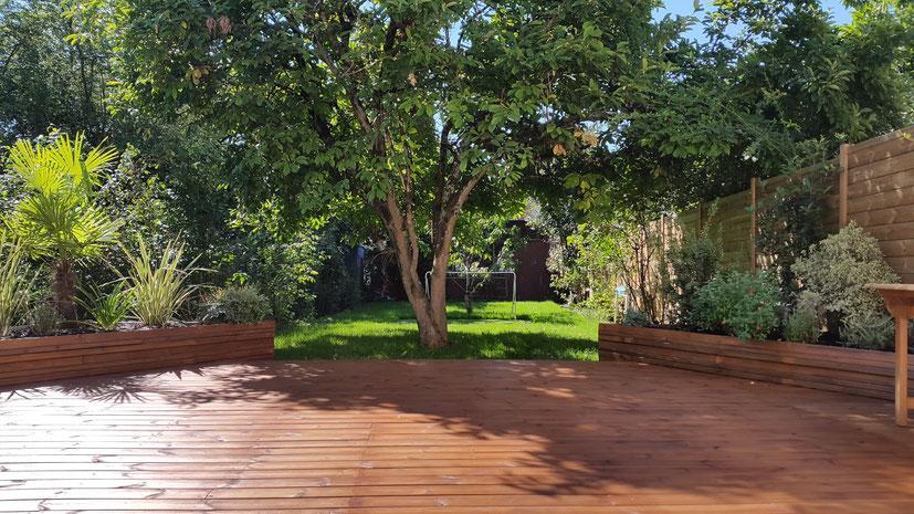 Aménagement jardin urbain balcon terrasse à Bordeaux, Mérignac, Bègles, Cenon, Bouliac, Floirac,  paysagiste Point de vue paysage