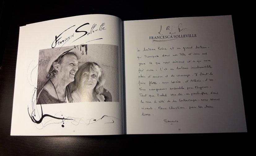 L'auteur et Francesca SOLLEVILLE