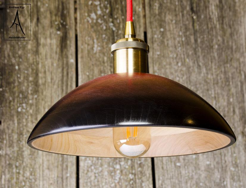 Exklusive Lampe aus Kirschholz. Sehr exklusiv. Pendellampe Holzlampe