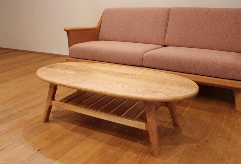 楕円センターテーブル(千葉市・K様邸)