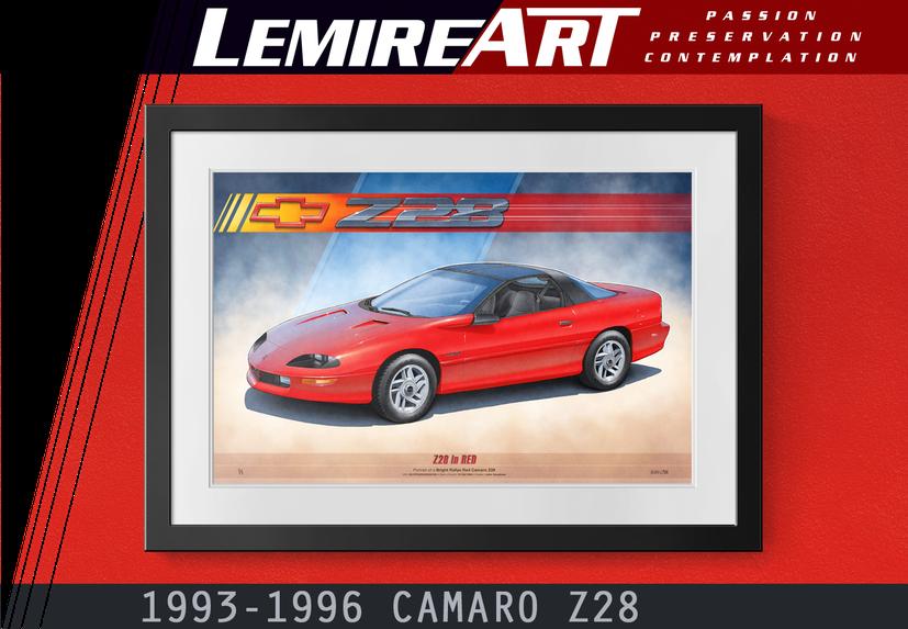1993 Camaro Z28 drawing, 1994 Camaro Z28 drawing, 1995 Camaro Z28 drawing, 1996 Camaro Z28 drawing