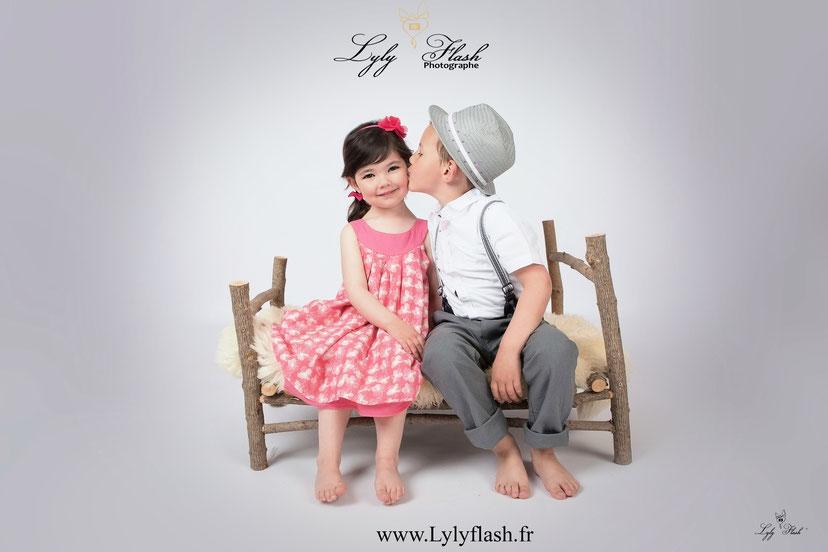 photo enfants bisous amour photographe amoureux