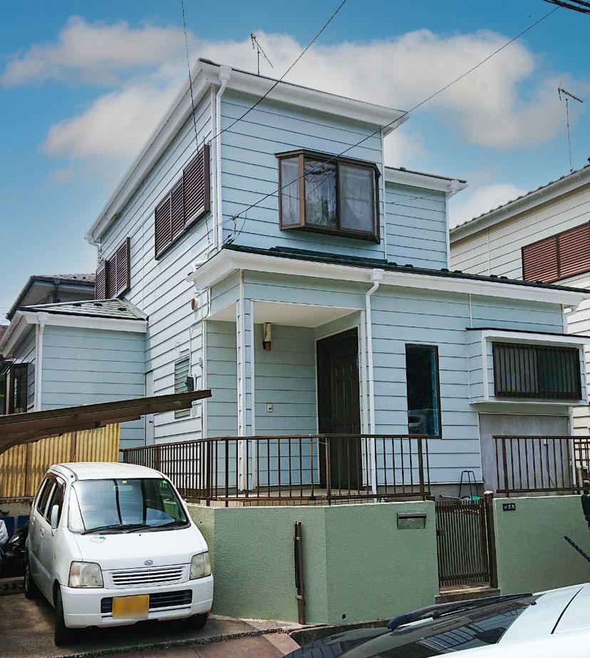 千葉市若葉区大宮町の屋根カバー工法、外壁塗装工事終了