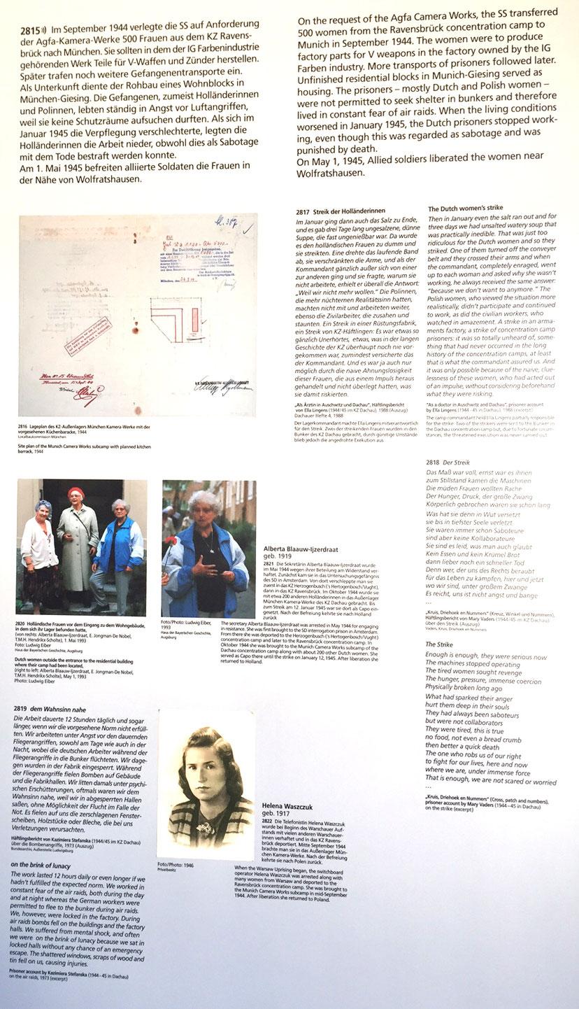 Informationstafel der KZ-Gedenkstätte Dachau © KZ-Gedenkstätte Dachau
