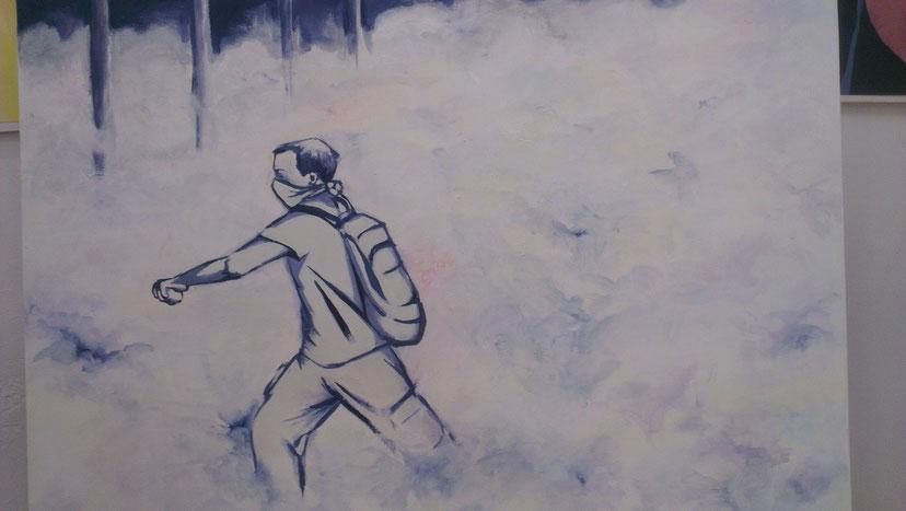 elliottism Acrylmalerei Istanbul