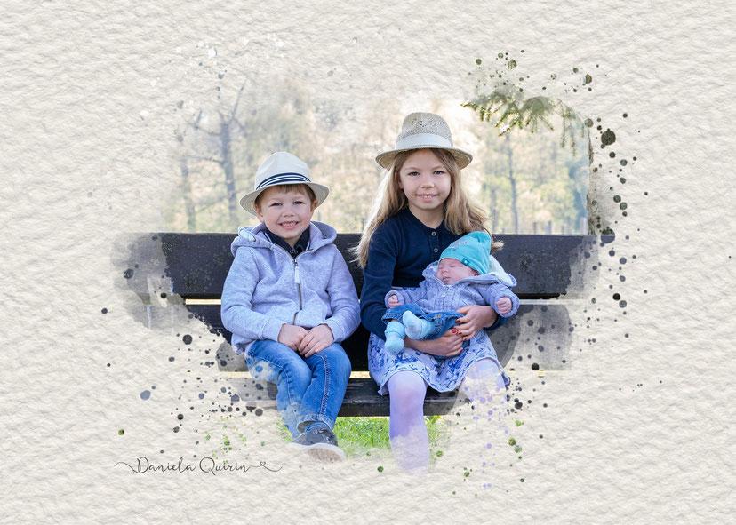 Geschwister Newborn Outdoor 2020